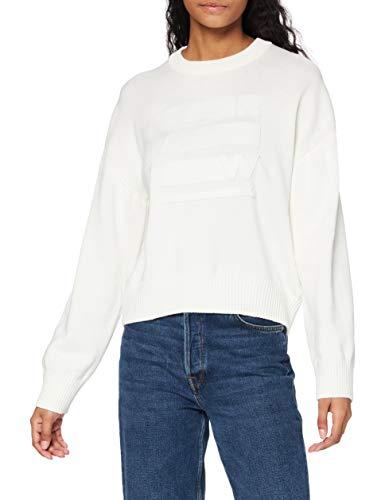 G-STAR RAW Womens Raw Space Graphic Boyfriend Pullover Sweater, Milk C259-111, M