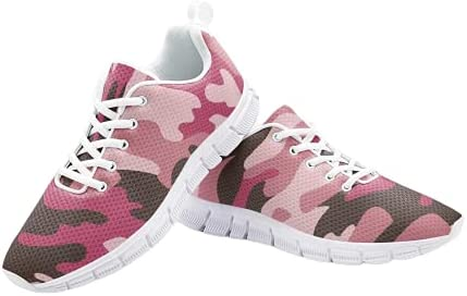The Fashion Access Pink Camouflage Lightweight Athletic Sneaker - Unisex