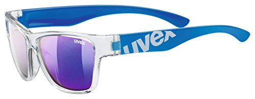 uvex Unisex Jugend, sportstyle 508 Sonnenbrille, clear blue/blue, one size