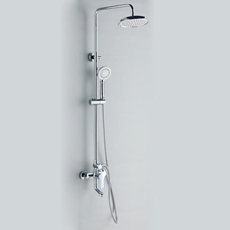 Axiba Chrome Finish Contemporary Style Duscharmatur mit Durchmesser 20cm Duschkopf + Handbrause