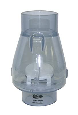 "Valterra 200-C20 PVC Swing/Spring Combination Check Valve, Clear, 2"" Slip by Valterra"