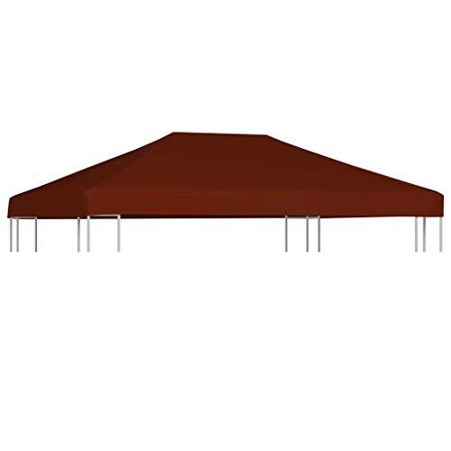 vidaXL Copertura Superiore per Gazebo Resistente Tetto per Tendone Protezione Tenda da Giardino a Strappo Poliestere e PVC 310g/m² 3x4 m Terracotta