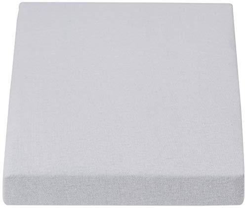 Little Lemonade Hoeslaken Jersey, 70 x 140/75 x 150 cm, Baby Blauw