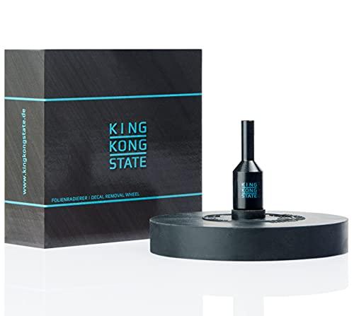 King Kong State Folienradierer zum Entfernen von Folien und Aufklebern - schwarze Radierscheibe für Akku-Bohrmaschinen