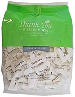 "Hospitality Mints 2-Pack – After Dinner ""Thank You"" Buttermints 26 Oz. Bag – Approximately 200 Individually Wrapped Mints Per Bag"