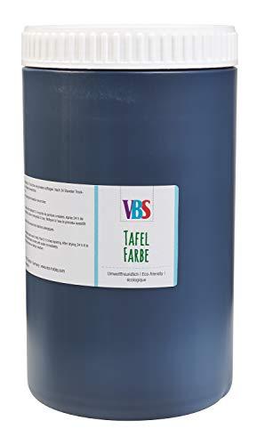 VBS XXL Tafelfarbe Schultafelfarbe Schwarz seidenmatt 1l oder 500ml Farbe Tafel für Kreide abwischbar Wandfarbe 1.000 ml