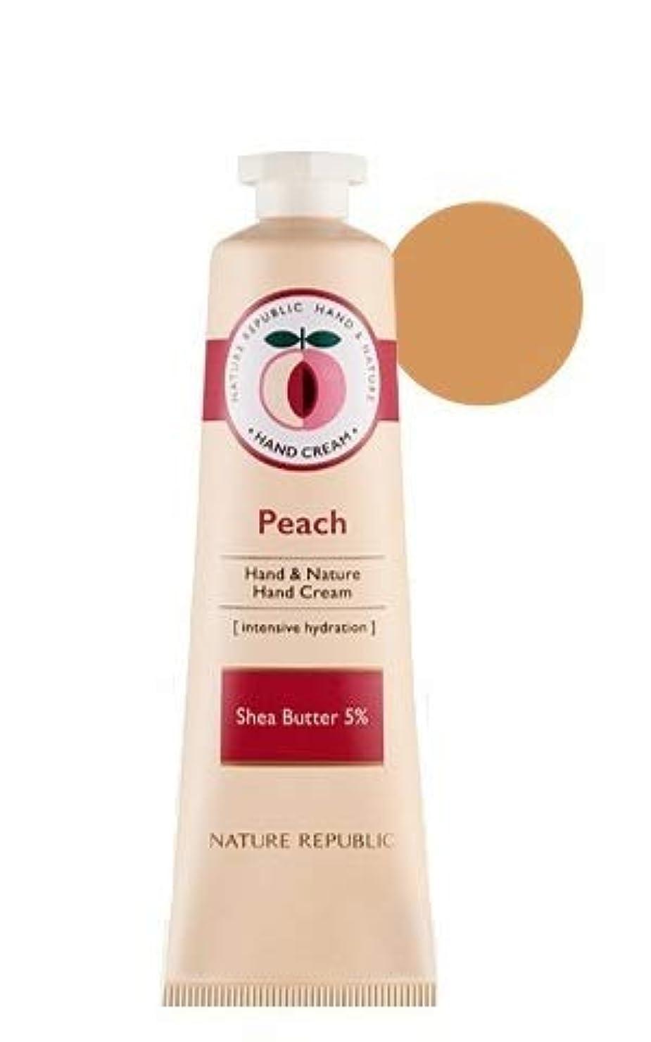 カーペット実装する叙情的な[1+1]ネイチャーリパブリック NATURE REPUBLIC ハンドアンドネイチャーハンドクリーム Hand & Nature Hand Cream (# PEACH) [並行輸入品]