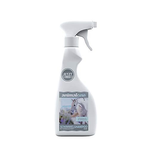 animalone - SCHIMMEL-SPRÜHSHAMPOO 750 ml - für Pferde - Reinigung & Pflege von Fell, Mähne & Schweif - pH-neutral - für Schimmelpferde geeignet - färbt Nicht