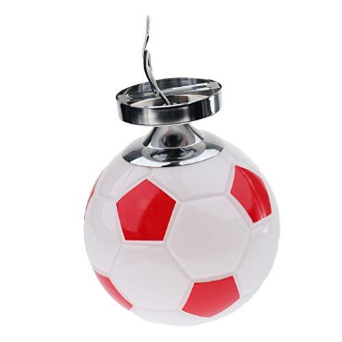 D DOLITY Plafonnier de Enfant LED Forme Football Moderne Lampe de Murale Lumière de Nuit pour Chambre Couloir Salon Éclairage Intérieur - Rouge