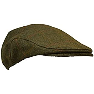 Walker & Hawkes - Kids Derby Tweed Flat Cap Hunting Shooting Countrywear Hat - Dark Sage - 50