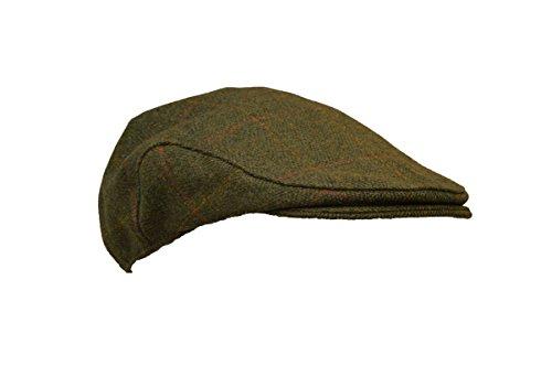Walker and Hawkes - Boina Unisex de Tweed - Gorra de Estilo campiña Inglesa - Ideal para la hípica y la Caza - Salvia Oscuro - XL (60cm)