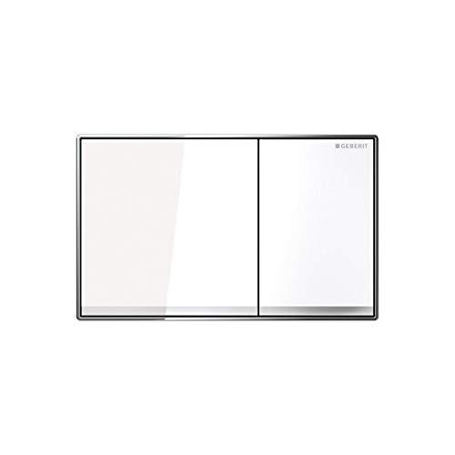 Geberit 115.640.SI.1 Sigma 60 Betätigungsplatte, Glas weiß