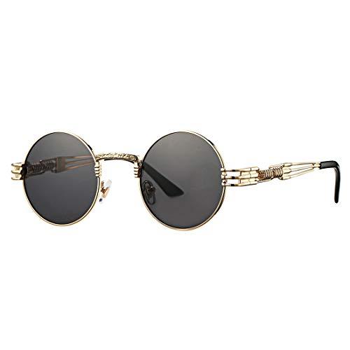 COASION Gafas de Sol Redondas Estilo Vintage Estilo John Lennon para Hombres y Mujeres