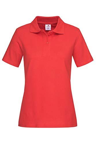 Camiseta polo para mujer de algodón Stedman ST3100 rojo Scarlet Red XX-Large