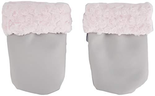 Babyline 3200007 - Manoplas para silla de paseo, unisex, gris y rosa