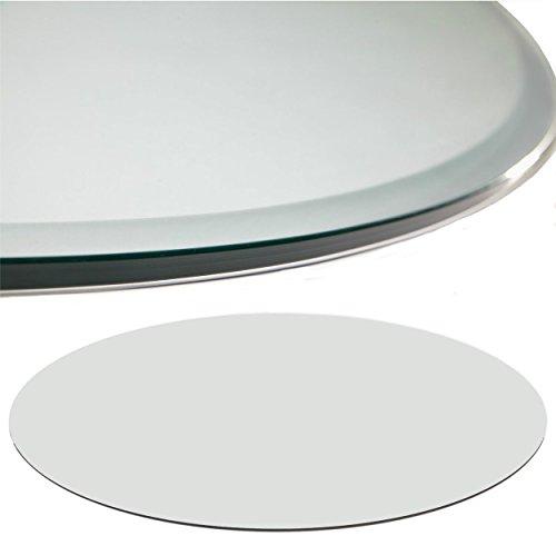 Euro Tische Glasplatte für Kaminofen rund - Glasscheibe mit 6mm ESG Sicherheitsglas - perfekt geeignet als Funkenschutzplatte - Verschiedene Größen (80cm, Klarglas)