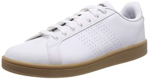 adidas CF Advantage Cl, Zapatillas de Gimnasia para Hombre, Blanco Footwear White Maroon Gum 0, 48 EU