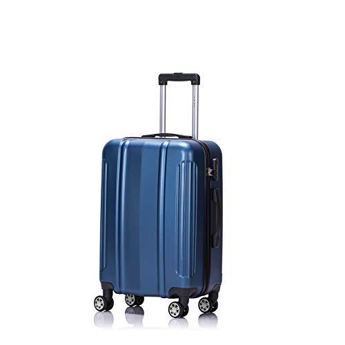 LYS - Valise Cabine Trolley 55cm Ultra léger avec Petites Poches intérieur ABS Rigide résistante Bagage à Main pour Ryanair, Easyjet, Lufthansa etc