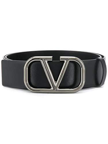Luxury Fashion | Valentino Heren TY2T0Q87AZR0NO Zwart Leer Riemen | Lente-zomer 20