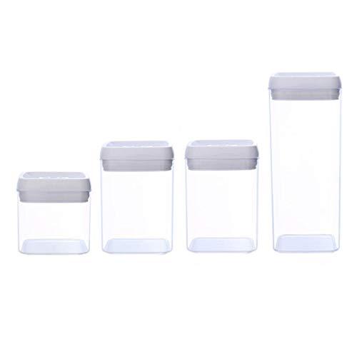 Fiambrera Cocina contenedor sellado de Almacenamiento Contenedor de plástico espesado botellas transparentes granos frescos Frigorífico Caja de almacenamiento Caja de Almuerzo ( Color : Square