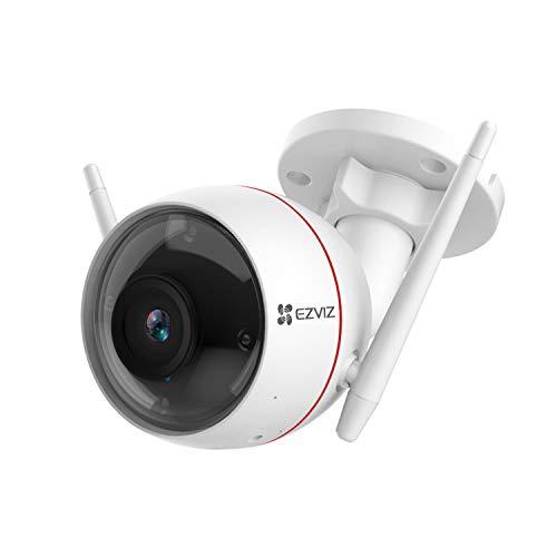 EZVIZ Telecamera da Esterno con Visione Notturna a Colori 4MP, Videocamera di Sorveglianza con Intelligenza Artificiale Rilevamento di Persone, Zone di Rilevamento Personalizzabili Modello C3W Pro