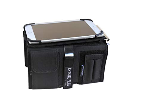 """Crystal Pilot """"Flight Pad"""". 3 in 1 Tablet Kneeboard with Aluminum Clipboard and VFR Placard. Compatible with mini iPad 3/4 and android devices."""