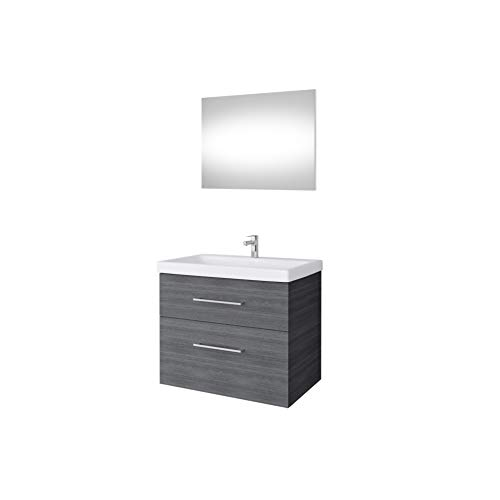 Planetmeubel wastafelonderkast met spiegel 64 cm badmeubelset voor badkamer gastentoilet