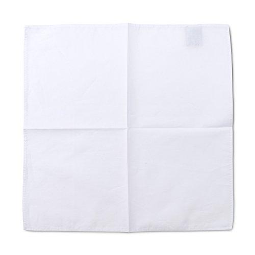 Pochette Fazzoletto da Taschino Uomo Dapper 100% Puro Cotone - Bianco Classico