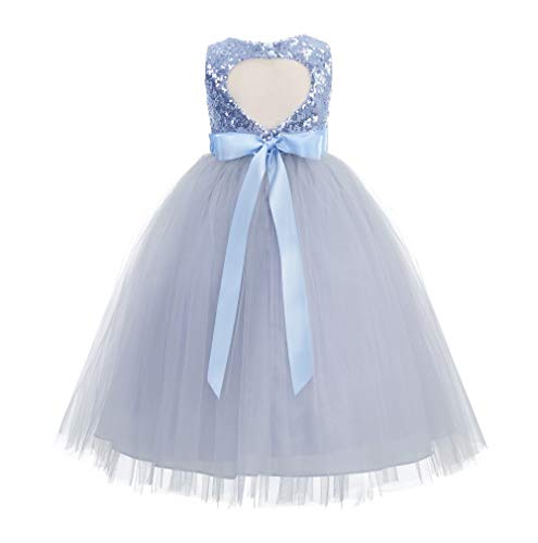 ekidsbridal Heart Cutout Sequin Formal Flower Girl Dress Toddler Girl Dresses 172seq 4 Dusty Blue