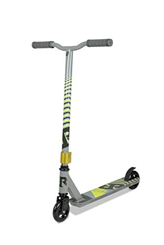 Riprail Unisex-Jeugd Matte Stunt Scooter Afgewerkt in Ghost Deck, Legering Core Wielen en ABEC-9 Lagers, Space Silver, One Size
