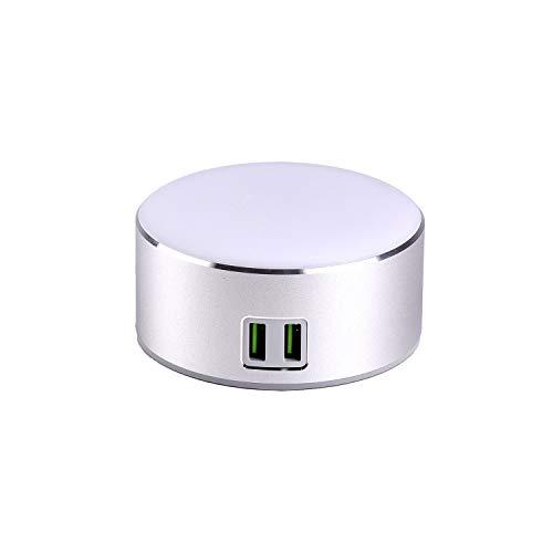 Smart Led-oplader voor nachtkastje, dimbare lamp / nachtlampje, aanraakschakelaar, helderheid op 3 niveaus, 2 intelligente USB-oplaadpoort
