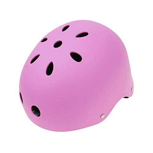 JIE KE Motorhelm Skateboard katrol veiligheidshelm outdoor sporthelm extreme sport helm skihelm Pink-S