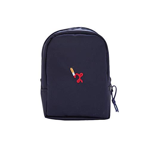Lovemay maquillage en nylon imperméable sac de voyage sac de voyage cosmétique multi-fonction poche de stockage (8,5 x 11 x 5,5 cm bleu)