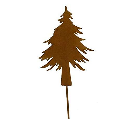 5 STK Metall Tannenbaum rost Dekostecker Bäume Baum 14cm Weihnachtsdeko Deko Metallbaum Stecker Weihnachten Schmuck Gartenstecker 35cm