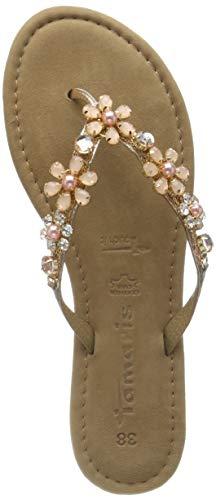 Tamaris Damen 1-1-27138-32 Pantoletten, Pink  (Rose Metallic 952), 38 EU