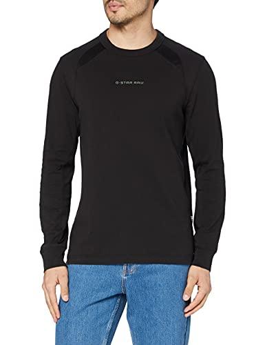 G-STAR RAW Moto Neoprene Camiseta, Negro (Dk Black C336-6484), XL para Hombre