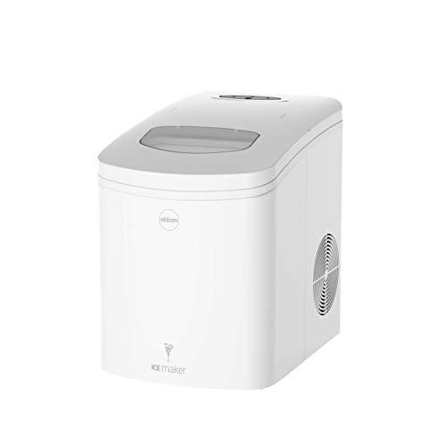 Maquina silenciosa para hacer hielo KS200 eldom, Maquina de Cubitos de Hielo, Capacidad 10 kg, Tiempo de producción 8-10 Minutos, 150 W depósito de Agua de 1.7 L