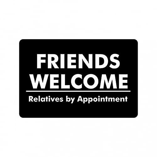 WYHAW Felpudo Alfombra de baño Alfombra Los Amigos y los Refranes Divertidos y humorísticos Dan la Bienvenida a los Familiares con Cita previa. Decoración navideña para el hogar-50x80cm