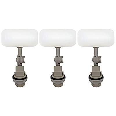 3/4 Inch Mini Float Valve, 3 Pieces Water Float Valves with Adjustable Arm for Aquariums Pool by MYBSSupplies