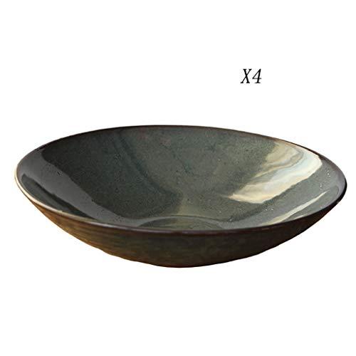 XXLCJ bord van keramiek, donkergroen voor fruitsalade, schaal voor Westvoeding, soepkom
