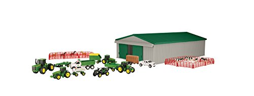 TOMY John Deere Die-cast Farm Toy 70 Piece Value Playset