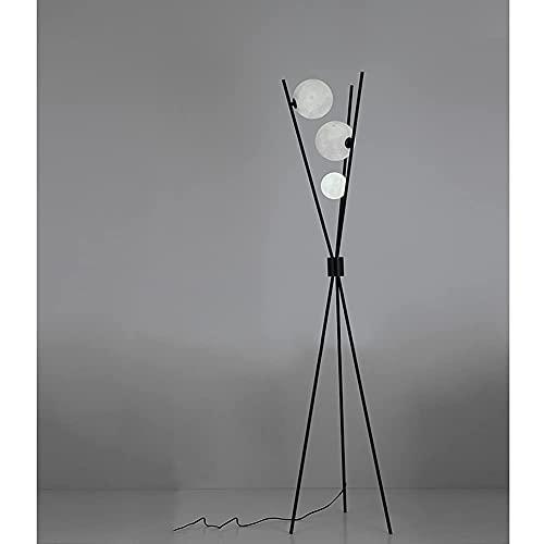 FYRMMD Lámpara de pie con trípode, lámpara Alta de 3 Luces de Globo con 3 temperaturas de Color e Interruptor de pie, para la luz del salón Bedr (lámpara de pie)