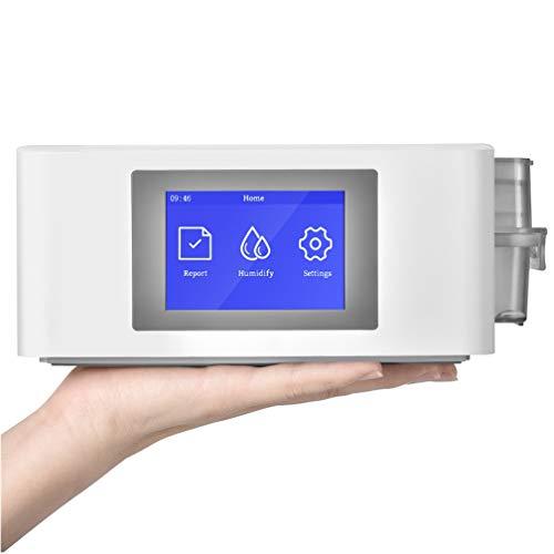 DQDL Beatmungsgerät Auto CPAP BPAP Reiniger Desinfector Schlafapnoe Anti Schnarchen, Maschinenmaske Kopfbedeckung Schlauchrohrzubehör - Weiß
