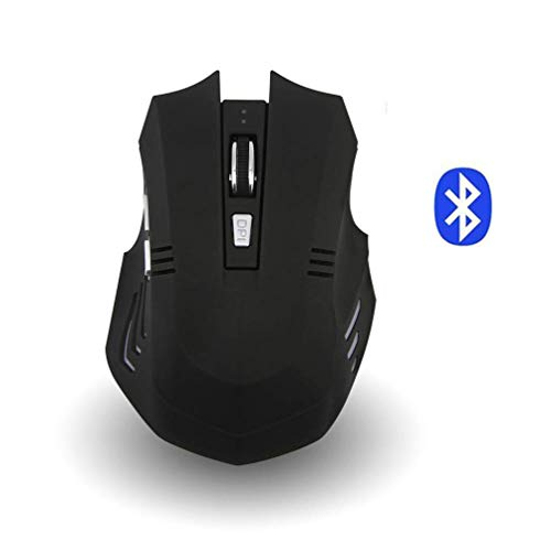 Wireless Mouse, Attoe Ergonomic Portable Bluetooth Gaming Mouse Silent Rechargeable Optic Mouse with 3 Adjustable DPI for PC Laptop Notebook Windows Android Mac OS (Blue)