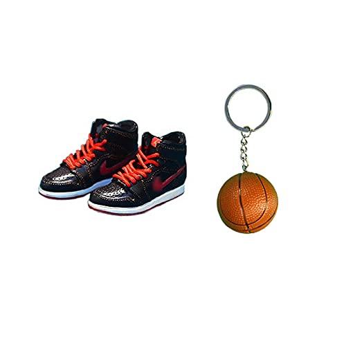 ANCHANG Creative A&J 3D Sneakers Modelo Llavero Moda Mini Bolso Colgante Zapatos de baloncesto Llavero Niños / Niña / Pareja Regalos 5cm * 1.8cm * 2cm Estilo-34