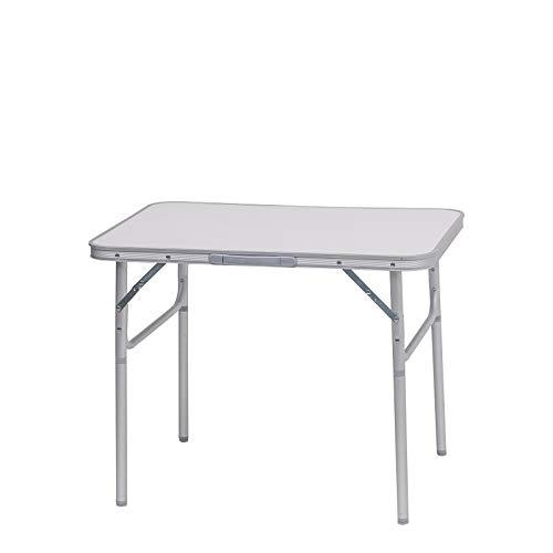 eSituro Klapptisch Campingtisch Faltbarer und höhenverstellbarer Reisetisch aus Alu, Tischplatte aus MDF, 75x55x25-60cm
