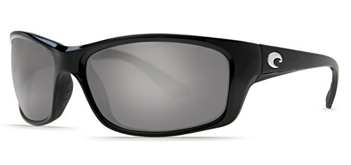 Costa Del Mar Jose Sunglasses Shiny Black/Gray Silver Mirror 580Glass