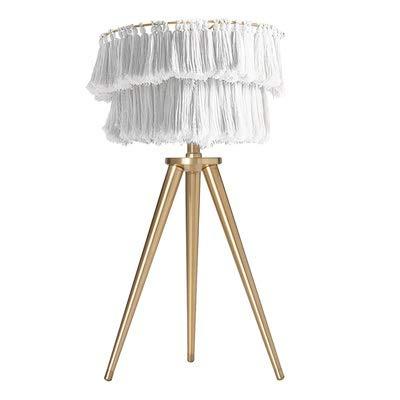 W-SHTAO L-WSWS Lámparas Posmoderna Creativo Tela Coloreada con borlas Lámpara de iluminación de Noche Dormitorio nórdico Simple del LED Lámpara de Trident Sala de Estar (Lampshade Color : Gray)