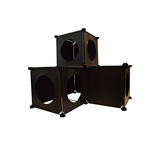 Purrfect Feline - Custom Cat Kitty Ferret Condo, Modular DIY Furniture, Tower Tree Hideout House Maze - (Small)