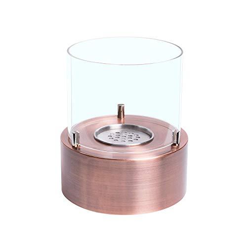 Biocamino da tavolo cilindrico Rustic con bruciatore da 0,4lt e potenza di 0,46 kW/h ; Dimensioni: 18(L) x20(H) cm